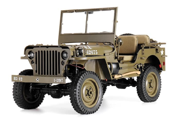 RC Car 1/6 Willys Jeep ROC Hobby - Military Scaler RTR